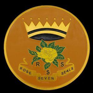 Rose Of The Seven Seals Car Tag
