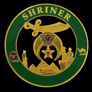 Shriner Cut Out Car Emblem In Green