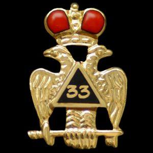 Mason 33rd Degree Wings Down Lapel Pin