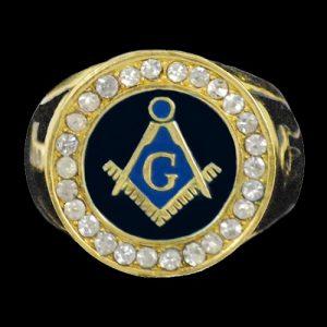 Mason Ring Gold W/Austrian Crystals