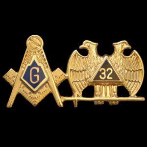 Mason Blue Lodge/32 Lapel Pin