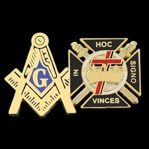 Mason Blue Lodge/Knights Templar Lapel Pin