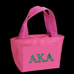 AKA Insulated Lunch Tote Pink With G184