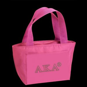 AKA Insulated Lunch Tote Pink With Studstone