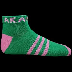 AKA Ankle Socks – Green With Pink