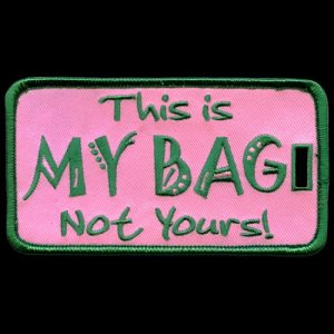 This Is My Bag Not Yours Pink and Green Luggage Tag