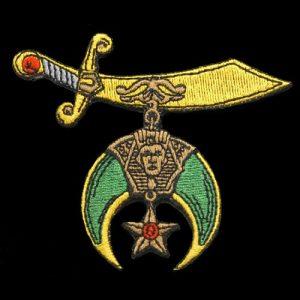 Shriner Emblem W/Heat Seal Backing- 1 3/16″