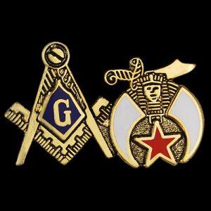 Mason Blue Lodge/Shriner Lapel Pin