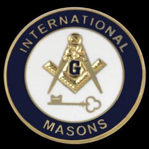 International Mason Lapel Pin- 1″