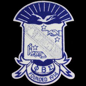 "PBS Chenille Shield 10 1/2"" Emblem w/ Heat Seal Backing"