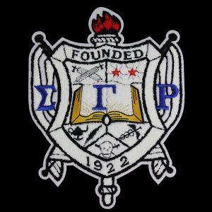"SGR Chenille Shield 10 1/2"" Emblem w/ Heat Seal Backing"
