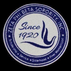 "ZPB Chenille Shield 10 1/2"" Emblem w/ Heat Seal Backing"