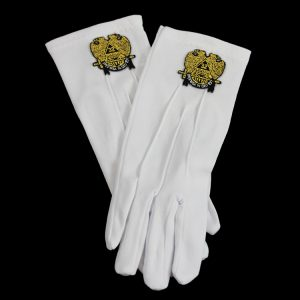 White Gloves W/32nd Wings Down Emblems