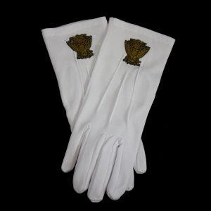 White Gloves W/33rd Wings Up Emblems