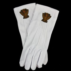 White Gloves W/33rd Wings Down Emblems