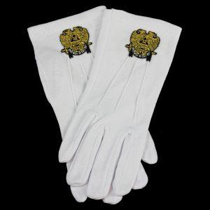 White Gloves W/Past Master Emblems