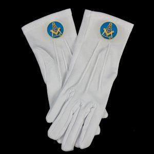 White Gloves W/International Mason Emblems