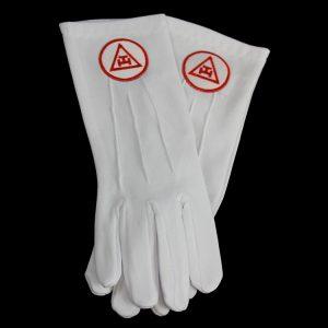 White Gloves W/Triple Tau Emblems