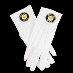 White Gloves W/Royal Arch Keystone Emblems