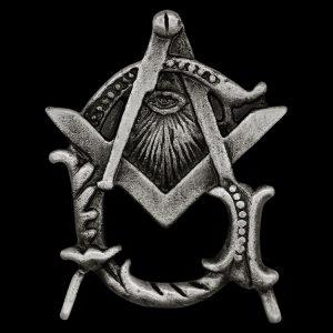 Mason Pin W/All Seeing Eye In Antique Silver 1 X 5/8″