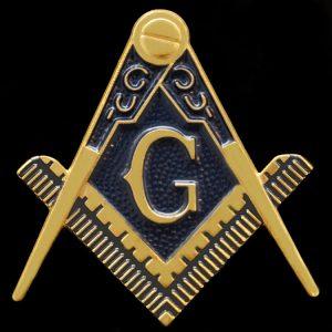Mason Cut Out Car Tag in Gold – 2 3/4″