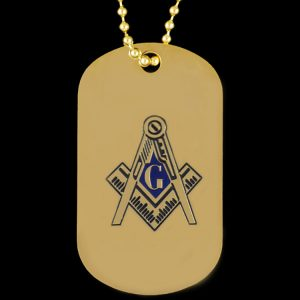 Mason Gold Double-Sided Dogtag W/Chain
