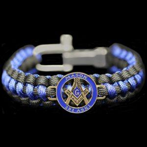 Mason Paracord Survival Bracelet W/Adjustable Clasp
