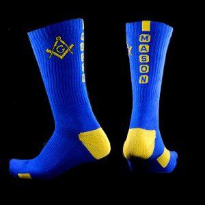 Mason Athletic Crew Socks In Blue