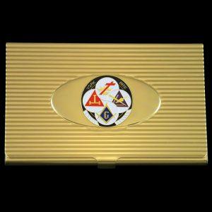 York Rite Business Card Holder