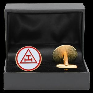 Mason Triple Tau Shield Cuff Links W/Box- 1″