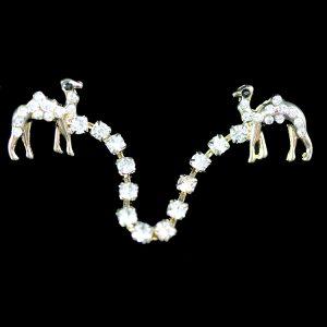 Fez Tassel Holder – Camel Single Row In Gold