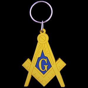 Mason Pvc Crest Key Chain