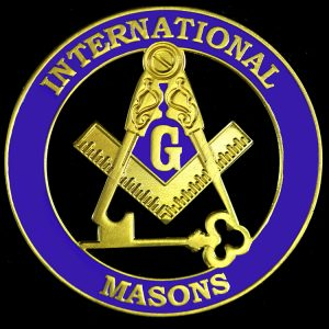 International Mason Cut Out Car Tag – Discoloration