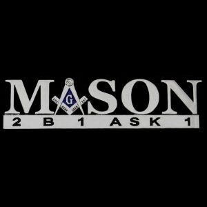 Mason Chrome Cut Out Car Tag