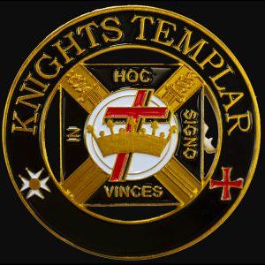 Knights Templar Cut Out Car Tag