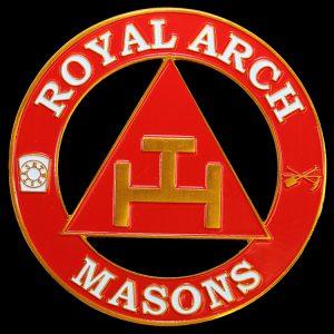 Mason Triple Tau/Red House Cut Out Car Tag