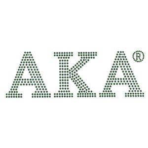 """AKA Green Block Letters Studstone Heat Transfer – 7 1/4W X 2 1/2″T"""""""