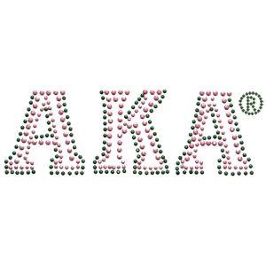 """AKA Block Letters Studstone Heat Transfer – 7 1/4W X 2 1/2″T"""""""