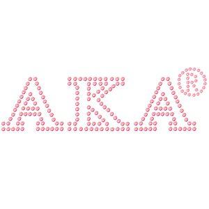 """AKA Pink Letters Studstone Heat Transfer – 1 1/8T X 3 1/4″W"""""""