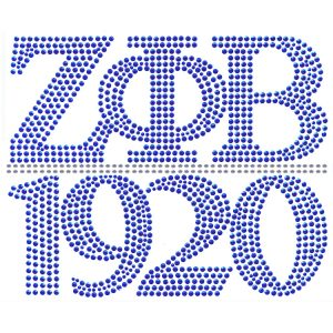 ZPB Chapter Style Royal W/Silver StudStone Heat Transfer