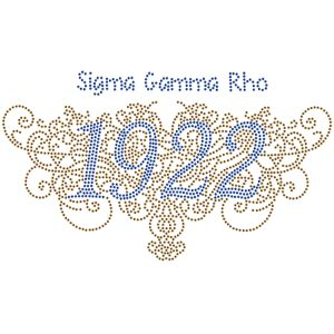 SGR Filigree Founding Studstone Gold W/ Blue 10″ W X 3 1/4″ T