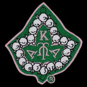 AKA 1 1/4″T Pearl Ivy Emblem W/Heat Seal Backing