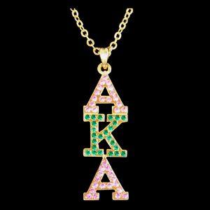 AKA P/G/P Austrian Crystal Pendant Gold