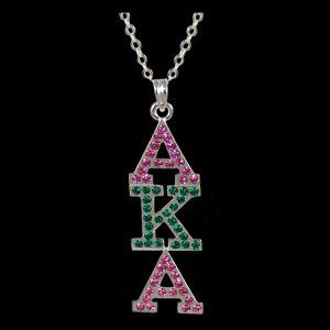 AKA P/G/P Austrian Crystal Pendant Silver