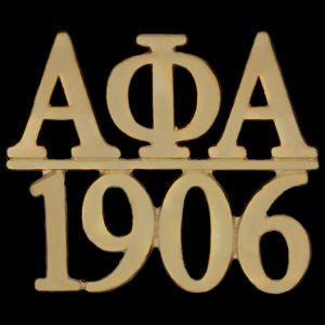 APA/1906 Chapter Bar Lapel Pin In Gold