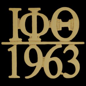 IPT/1963 Chapter Bar Lapel Pin In Gold
