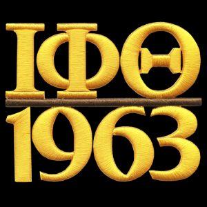 IPT/1963 Gold 3D Puff Emblem W/Heat Seal Backing – 5″W