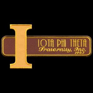 IPT Brown W/Gold Iota Retro Emblem W/Heat Seal Backing – 7″W
