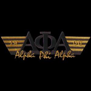APA 4 3/4″W Two Tone 3-N-1 Black W/Gold Emblem W/Heat Seal Backing
