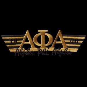 APA 4 3/4″W Two Tone 3-N-1 Gold W/Black Emblem W/Heat Seal Backing